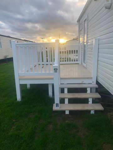 Photo of STATIC CARAVAN DECKING 7 FT BY 9 FT WITH SECURE STEPS