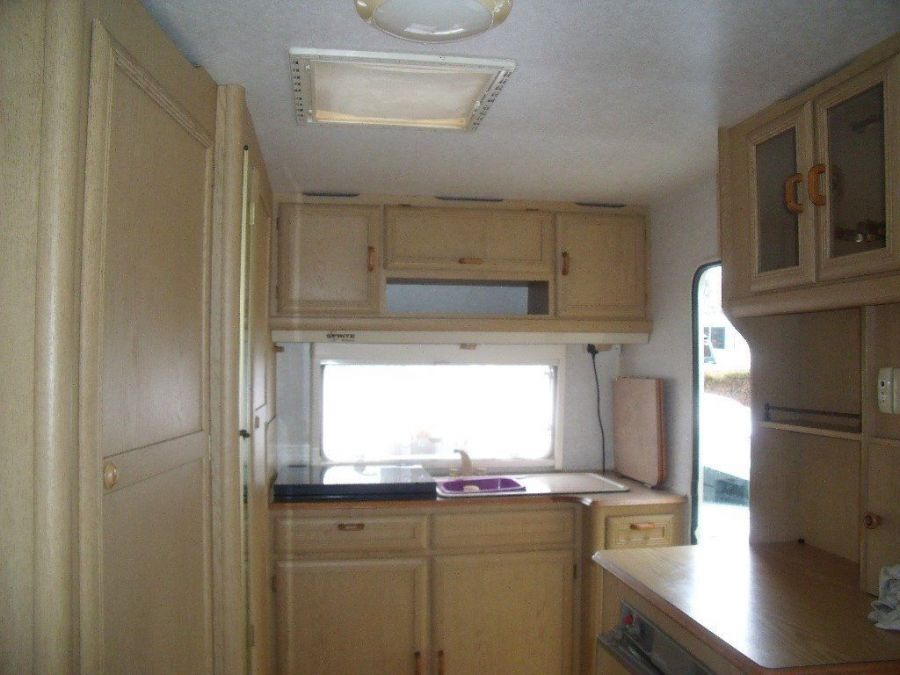 Image of sprite alpine2 touring caravan, dry, awning 1995 gas,battery,awning,spare wheel,tyrone band in tyres
