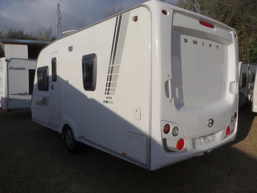 Image of Swift Charisma 535 2009 4 Berth Fixed Double Bed Single Axle Touring Caravan