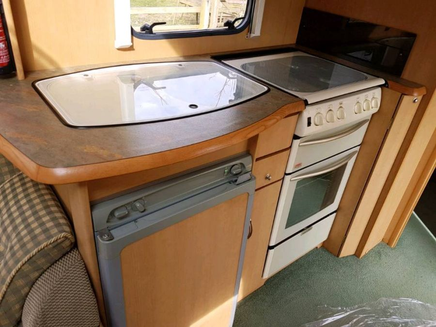 Image of Abbey maverick sl 2003 2 berth touring caravan cassette toilet end bathroom