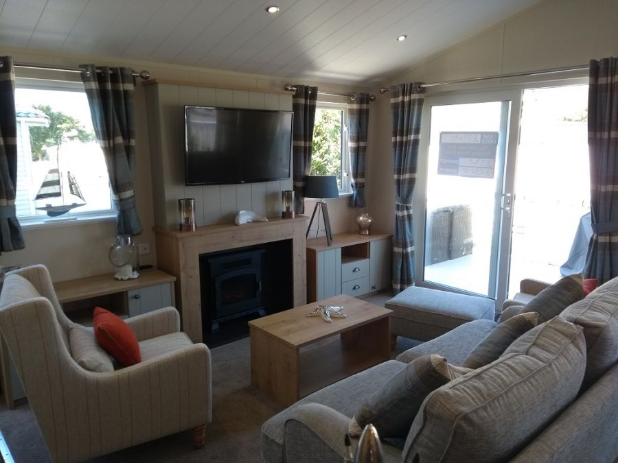 Image of Luxury lodge for sale in South Devon with decking!