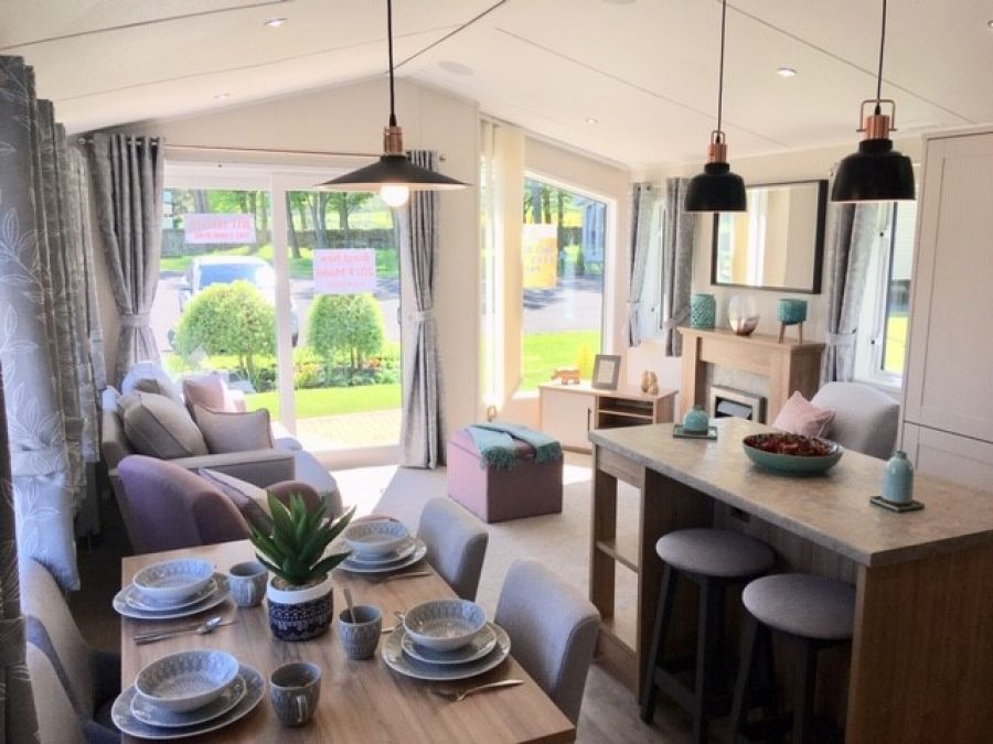 Photo of Luxury Willerby Waverley Lodge for sale in County Durham near Northumberland. No site fees to pay until January 2021.